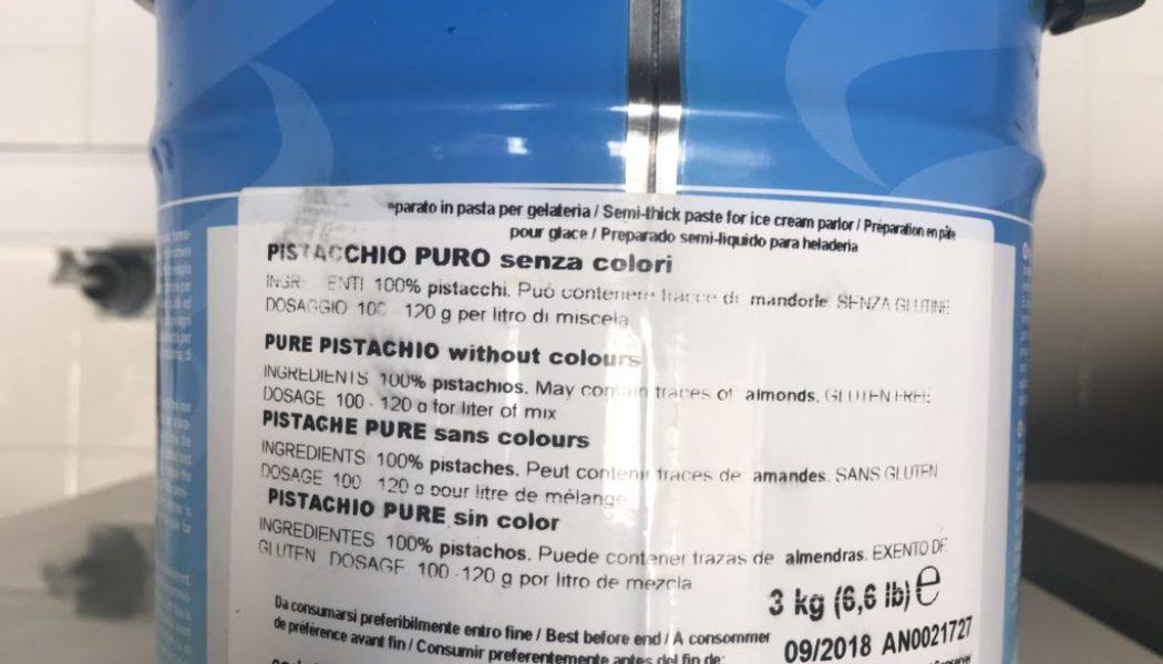 Recensione: Gelatitalia pistacchio puro senza colori